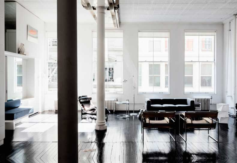 airy-NYC-loft-via-fashionsquad