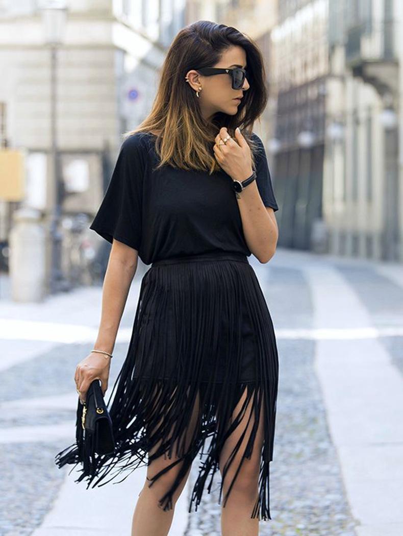 black-fringe-skirt