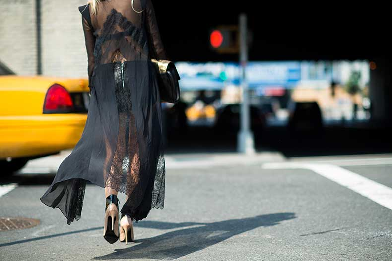 new-york-fashion-week-street-style-black-sheer-lace-nude-heels