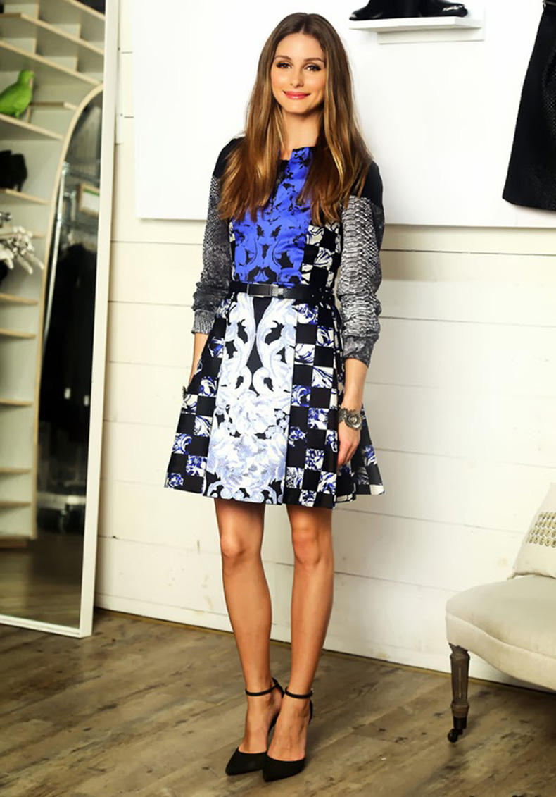 Olivia-Palermo-LookBook-2013-and-Style-Finder-check-dress