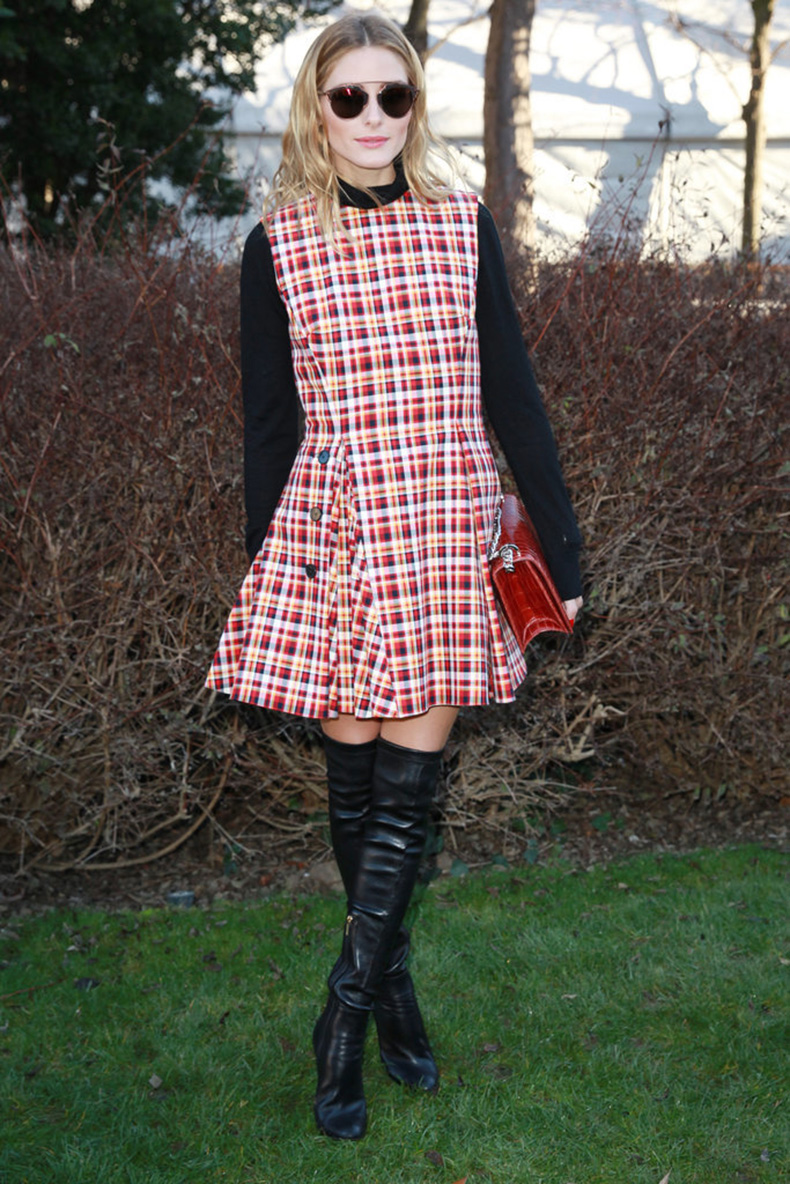 Olivia-Wore-Tartan-Dress-Dior