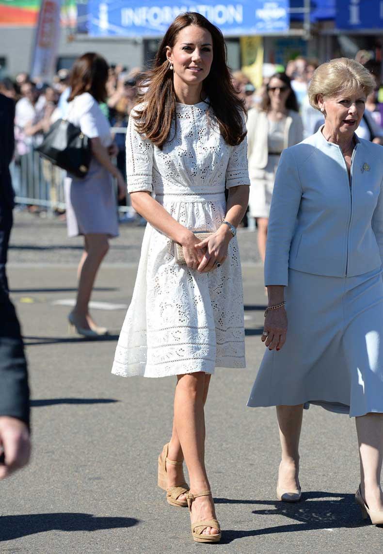 Summer-Style-Kate-Middleton-Princess-Dress-Aliexpress-uk-2015-Short-sleeved-Cotton-Elegant-Women-White-Embroidered