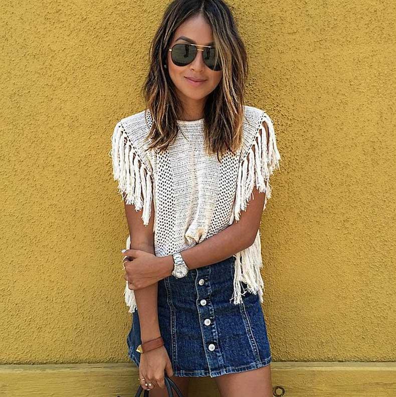 Summer-White-Top-Denim-Skirt