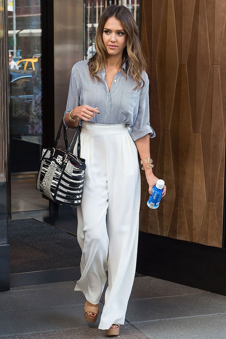 Wide-leg-pants-trend-Fashion-Week-2015-Street-style-jessica-alba