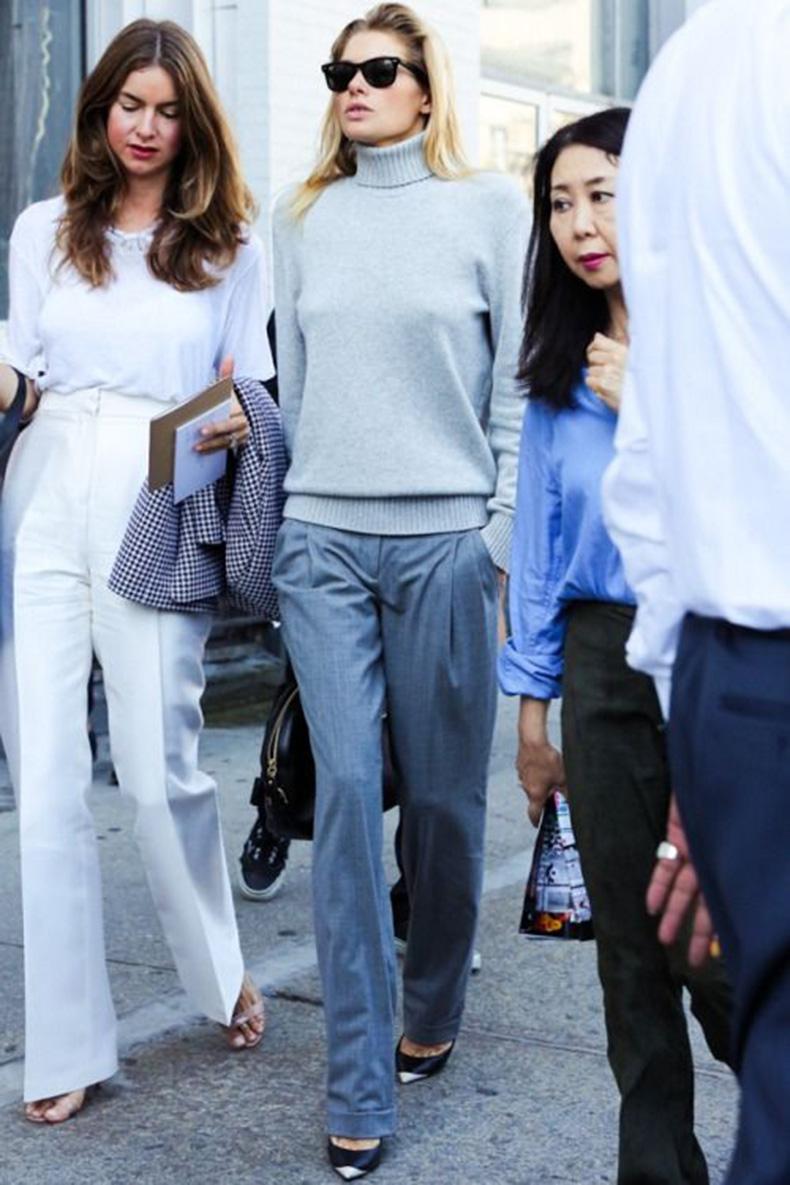 grey-monochromatic-groutfits-wide-leg-pants-grey-turtleneck-menswear-jessica-hart-via-www