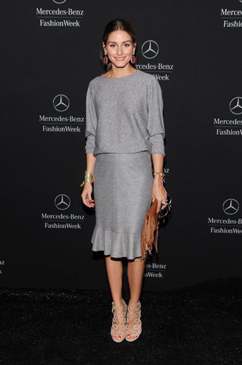 grey-skirt-set-ruffled-peplum-midi-skirt-nude-sandals-fringe-clutch-grey-olivia-palermo-via-oliviapalermofashionstyle.tumblr.com_