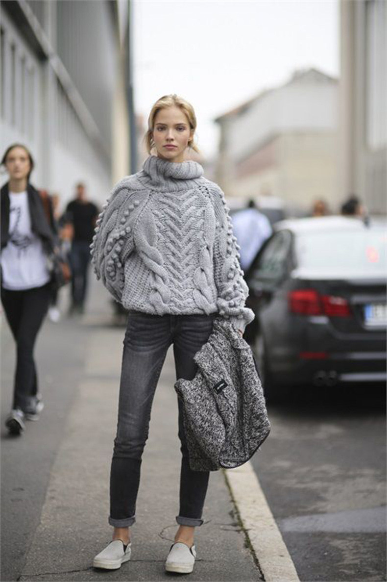 grey-turtleneck-sweater-black-jeans-slip-on-sneakers-rolled-jeans-monochromatic-weekend-casual-via-lacooletchic.tumblr.com_1