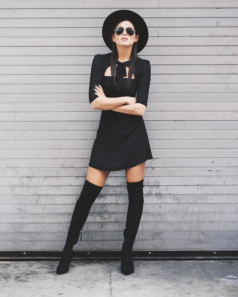 Black-Boots-Wide-Brim-Hat