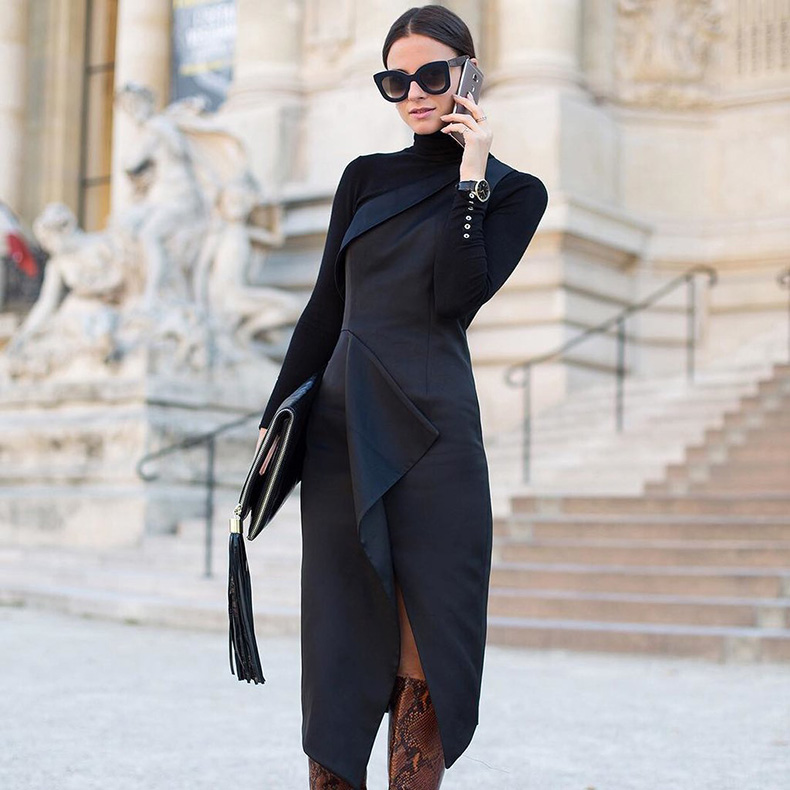 Black-Turtleneck-Snakeskin-Boots