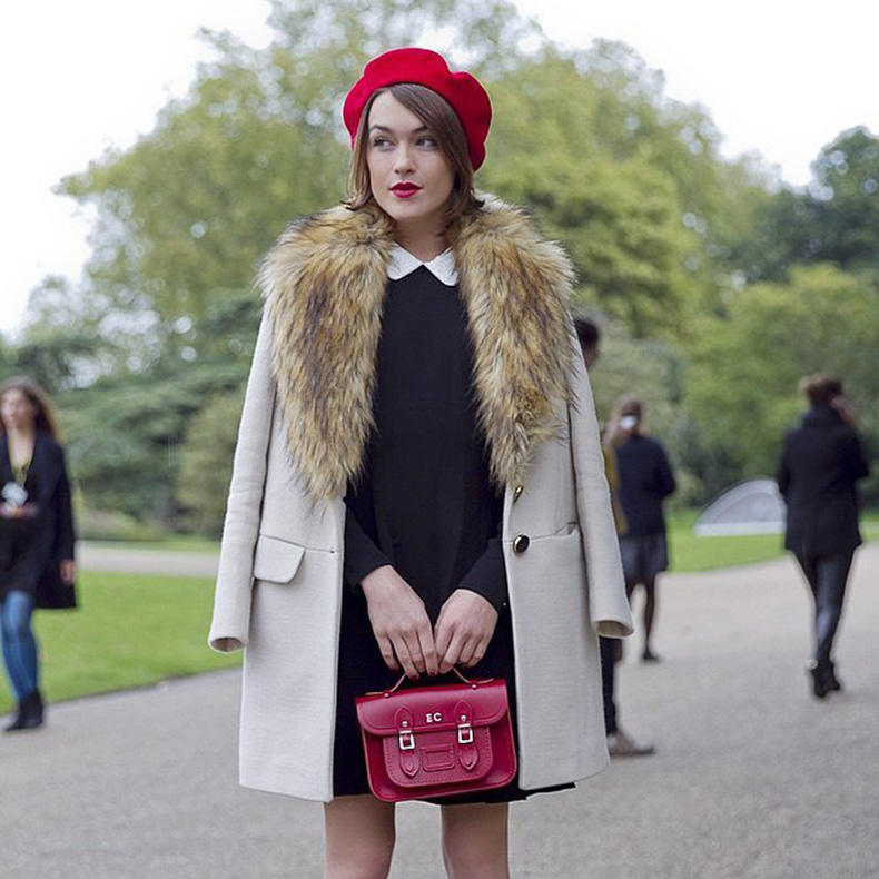 Collared-Shirt-Furry-Jacket-Red-Beret