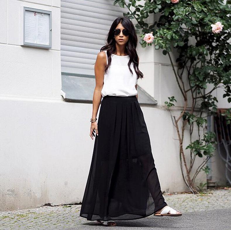 Tucked-Maxi-Skirt