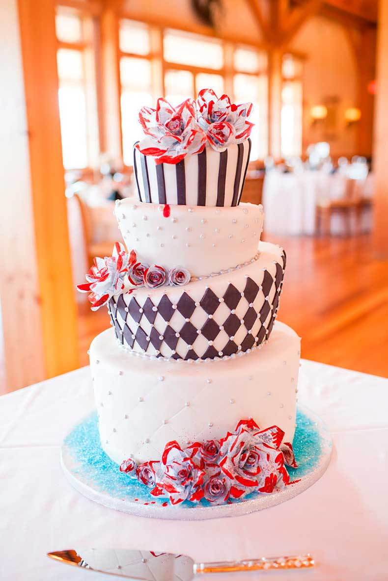 We-love-how-uniquely-shaped-tiers-make-striking-cake