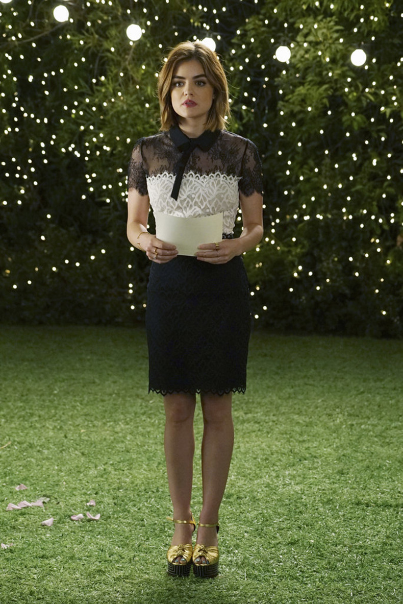 Aria-wedding-ready-lacy-black--white-dress-which-she