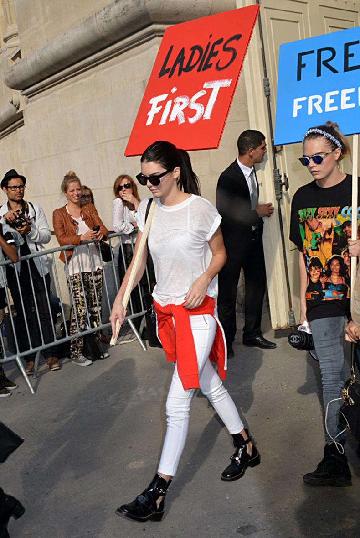 Cara-Kendall-Jenner-got-political-Karl-Lagerfeld