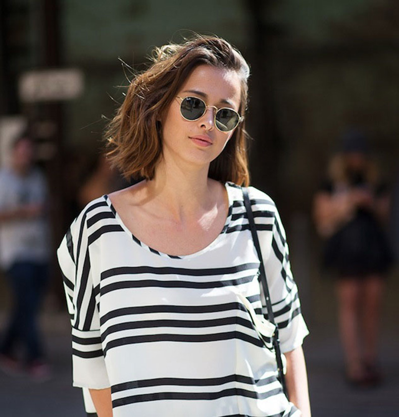 Le-Fashion-Blog-Eleanor-Pendleton-Street-Style-Wavy-Bob-Round-Sunglasses-Striped-Top-Matching-Pants-Separates-Under-100-Via-Harpers-Bazaar