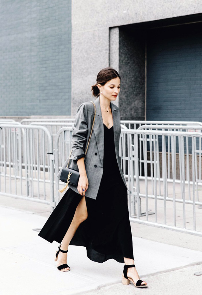 New_York_Fashion_Week-Spring_Summer-2016-Street-Style-Maria_Dueñas_Jacobs-Grey_Blazer-Long_Dress-Saint_Laurent_Bag-2-790x11851
