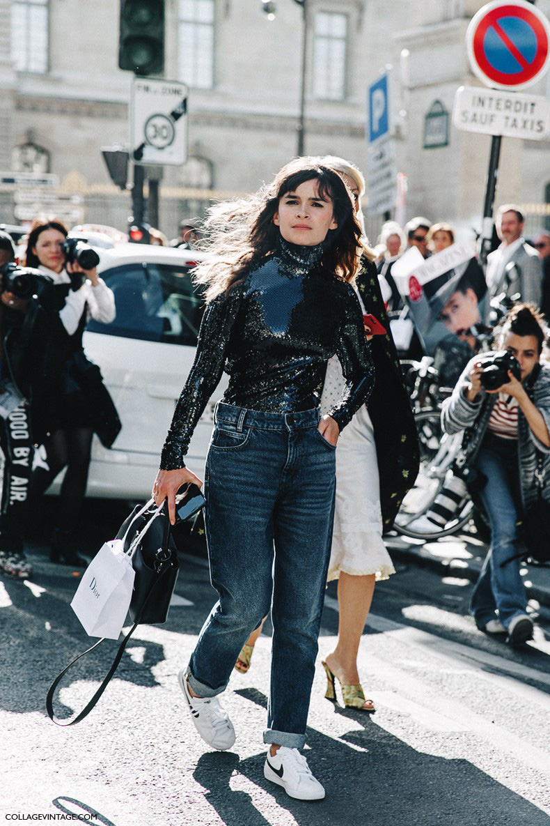PFW-Paris_Fashion_Week_Spring_Summer_2016-Dior-Street_Style-Miroslava_Duma-Sequins_Top-JEans-Sneakers--790x1185