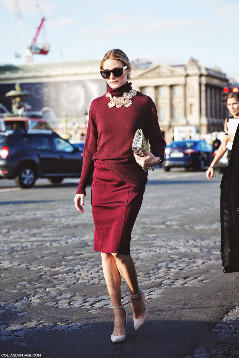 Paris_Fashion_Week_Spring_Summer_15-PFW-Street_Style-Olivia_Palermo-Nina_ricci-Burgundy-Pencil_Skirt-8