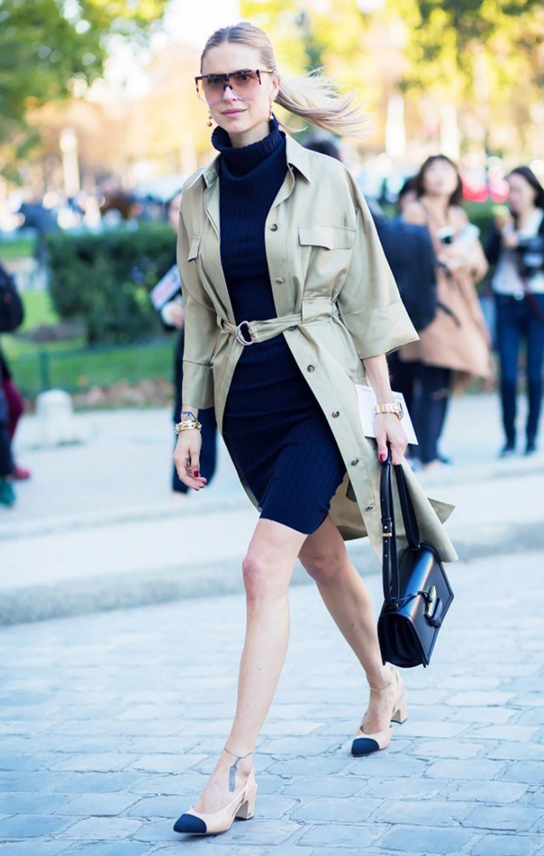 shitrdress-hack-turltneck-sweater-dress-navy-army-green-khaki-layering-fall-work-outfit-two-tone-chanel-block-heels-style-du-monde-1-640x1006