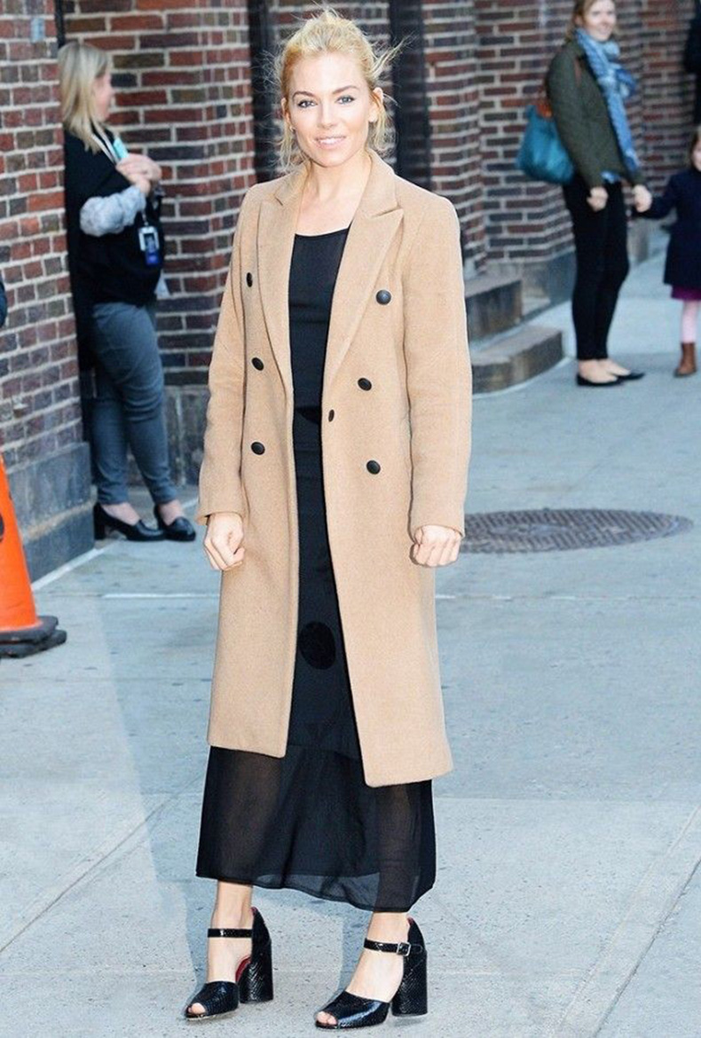 sienna-miller-long-black-maxi-dress-classic-camel-coat-mules-slides-fall-going-out-night-out-party-holiday-party-via-www-640x948
