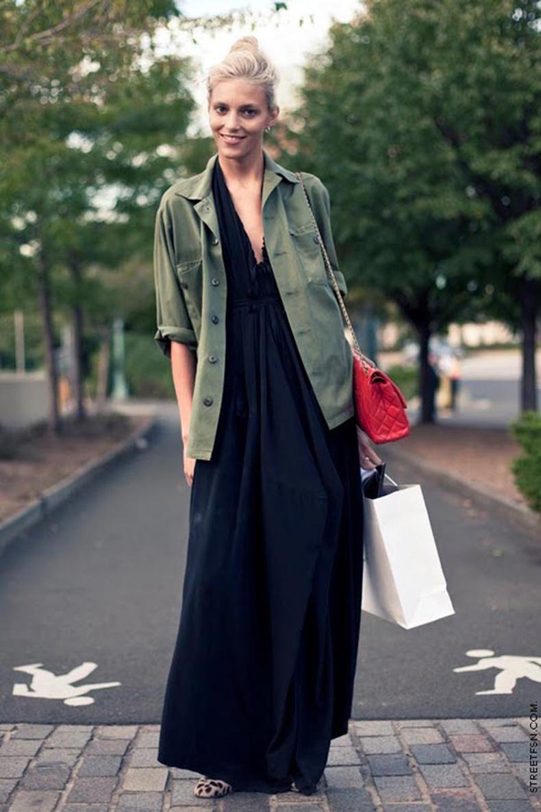 spring-outfit-street-style-fashion-blog-maxi-dress-khaki-army-miliraty-jacket
