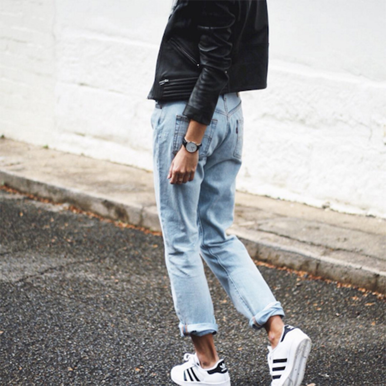 Le-Fashion-Blog-25-Ways-To-Wear-Adidas-Sneakers-Leather-Jacket-Light-Wash-Cuffed-Levis-Jeans-Superstar-Via-Andy-Csinger