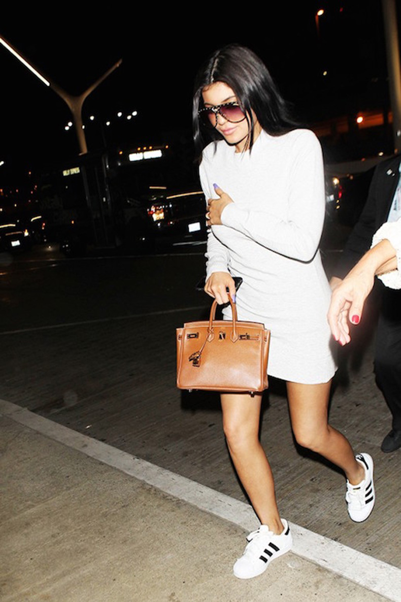 Le-Fashion-Blog-25-Ways-To-Wear-Adidas-Sneakers-White-Dress-Sunglasses-Super-Star-Black-Stripe-Kylie-Jenner-Via-Who-What-Wear