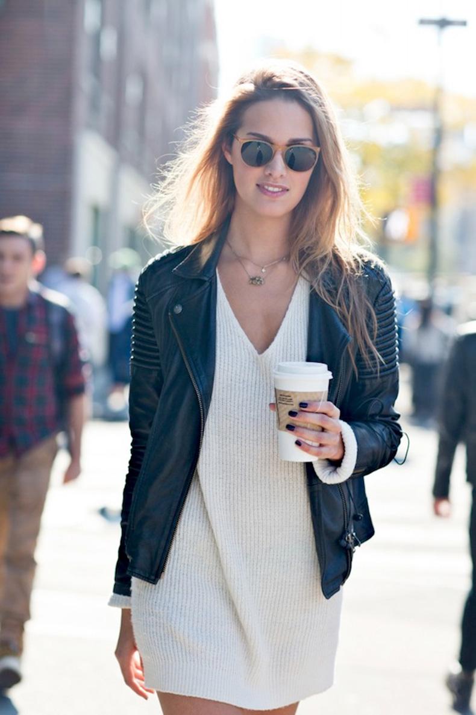 Le-Fashion-Blog-Model-Off-Duty-Street-Style-Cecelia-Singley-Round-Sunglasses-Leather-Jacket-Sweater-Dress-Via-Scott-Brasher-Studio