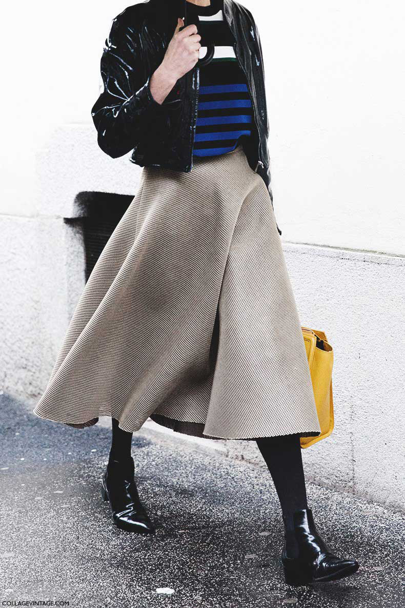 Milan_Fashion_Week-Fall_Winter_2015-Street_Style-MFW-Midi_Skirts-Striped_Top-Rainy_Day-790x1185