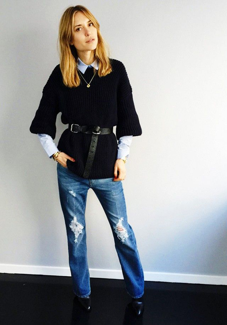 belted-sweater-fall-layers-sweater-over-shirt-look-de-pernille