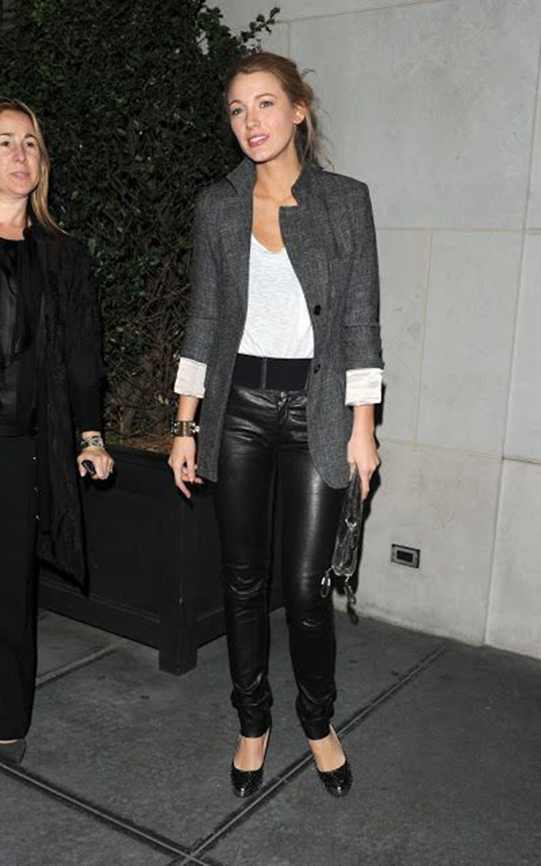 blake-lively-black-leather-skinnies-grey-boyfriend-blazer-date-night-valentines-day-via-pinterest