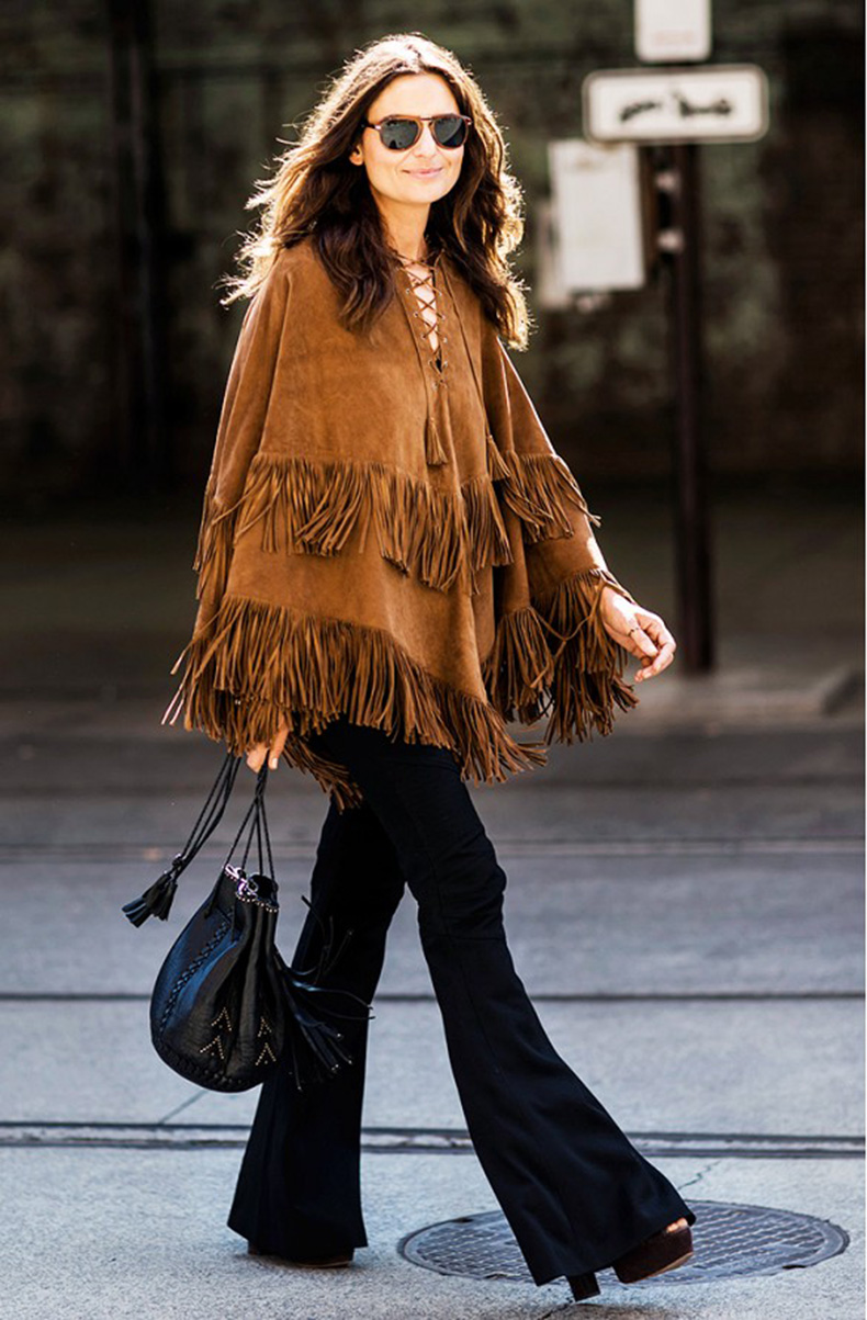 fringe-suede-poncho-flares-platform-bucket-bag-fall-boho-trend-a-love-is-blind