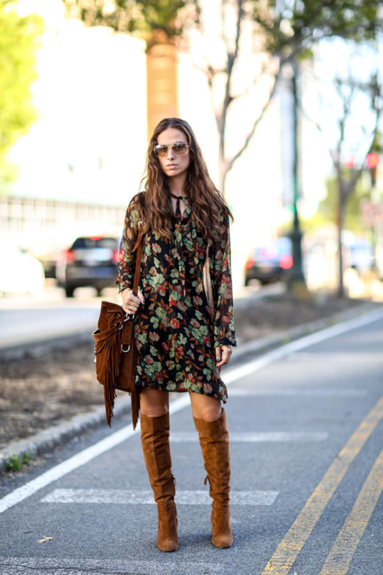 nyfw-boho-70s-trend-boho-printed-dress-fringe-bag-knee-high-tan-suede-boots-via-popsugar-640x960
