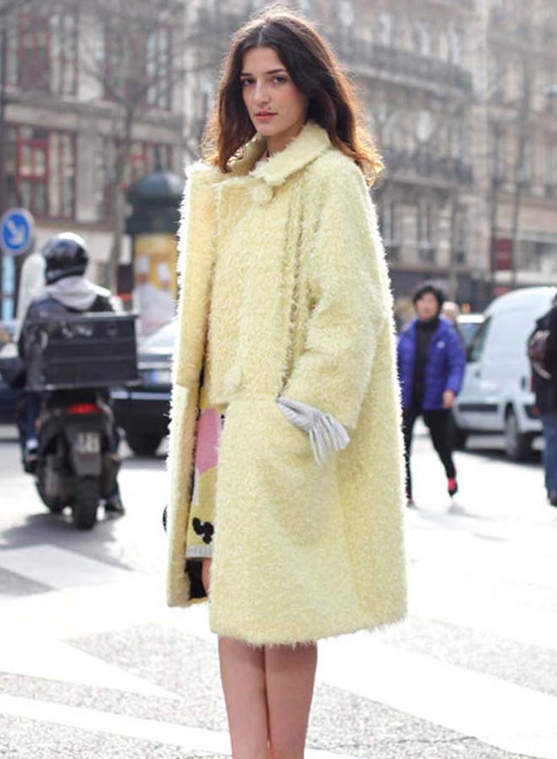 pastel+trends+fuzzy+coat+street+style+fashion-yellow