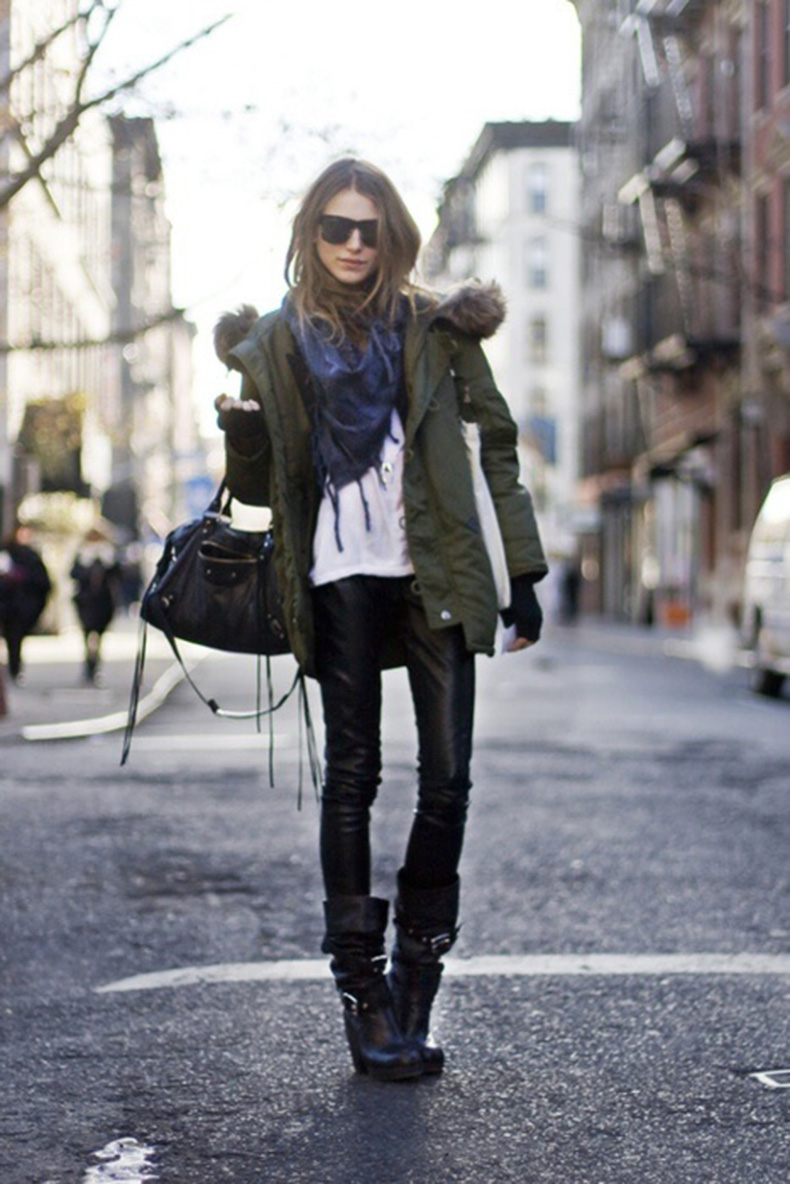 winter-parka-outerwear-coat-black-leather-skinnies-scarf-via-guestofaguest.com_