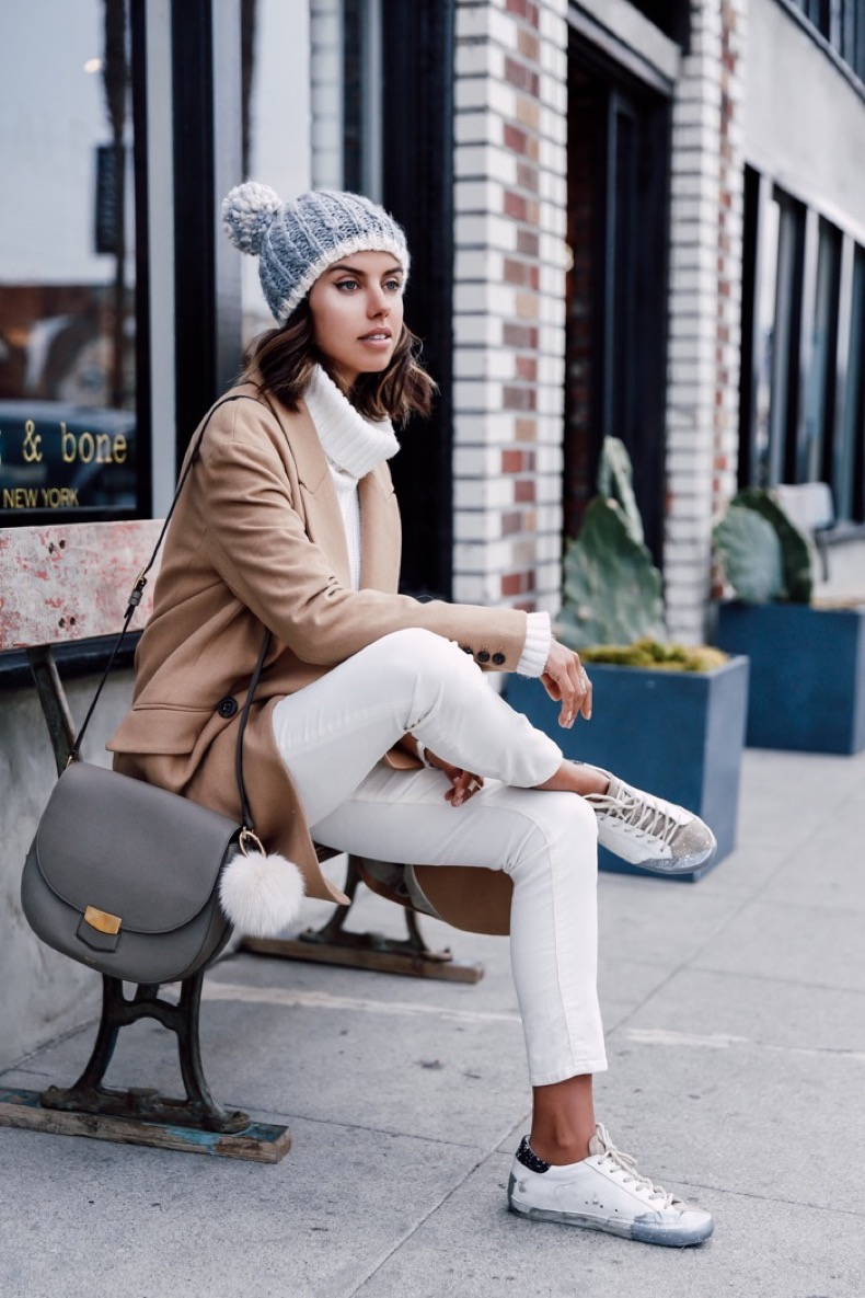 1.-white-denim-jeans-with-brown-coat