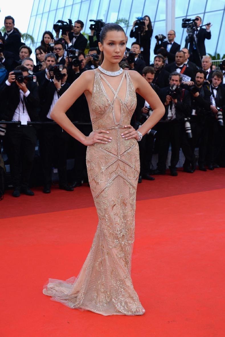 Bella-Hadid-sparkled-Roberto-Cavalli-Couture-gown-Café