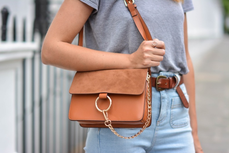 EJSTYLE-wears-Tan-suede-leather-chloe-style-Faye-bag-by-Jessica-Buurman-High-waisted-jeans-tan-knot-belt-OOTD-details