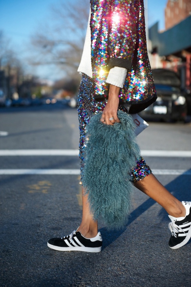 Le-Fashion-Blog-25-Ways-To-Wear-Adidas-Sneakers-Sequin-Jacket-Skirt-Shaggy-Gazelle-Black-Street-Style-Via-Where-Did-U-Get-That