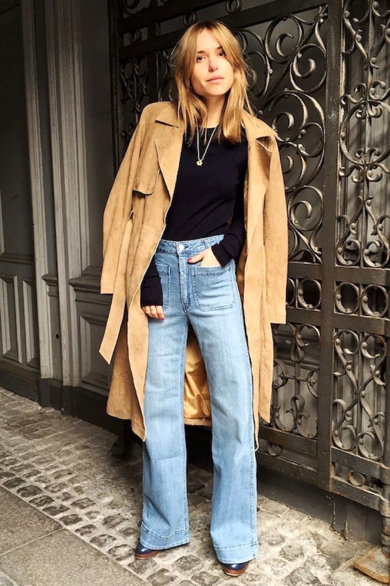 Le-Fashion-Blog-Blogger-Pernille-Teisbaek-Suede-Trench-Coat-Wide-Leg-Jeans-Fall-Style-Via-Vogue