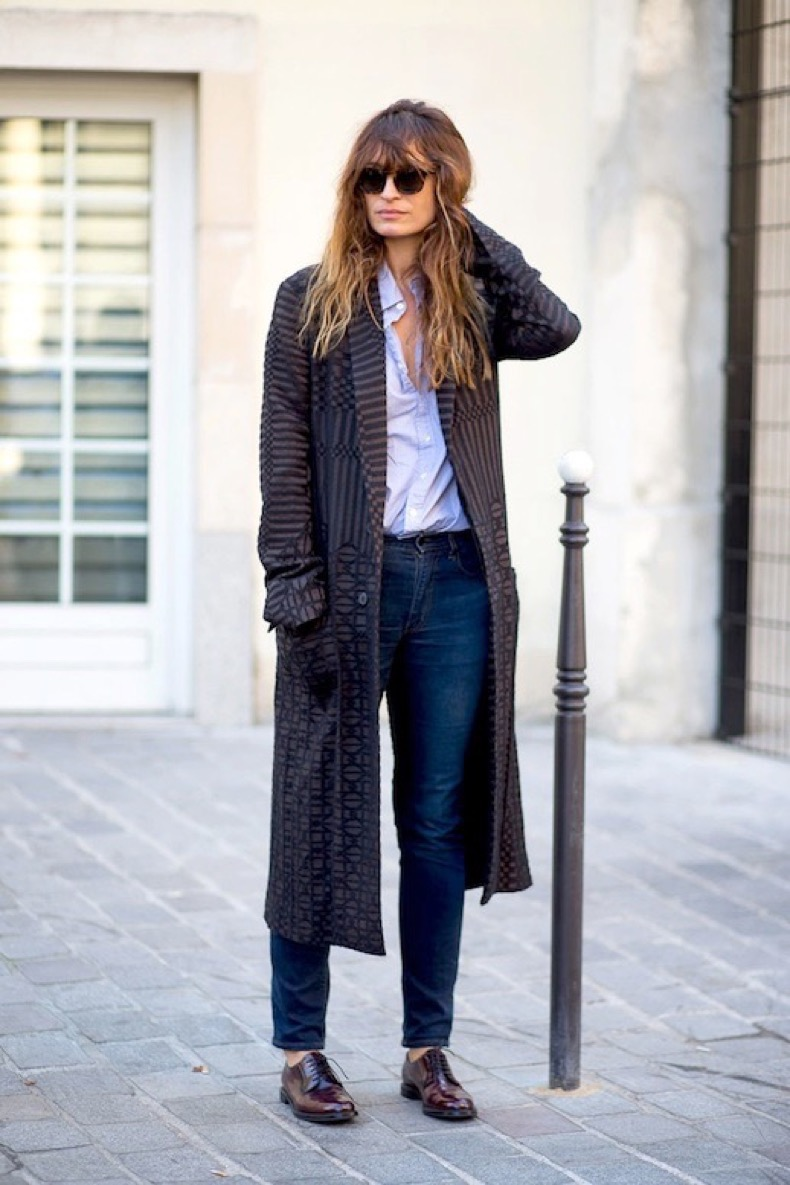 Le-Fashion-Blog-Caroline-De-Maigret-Fall-Street-Style-Menswear-Graphic-Print-Coat-Red-Oxfords-Via-Harpers-Bazaar_2