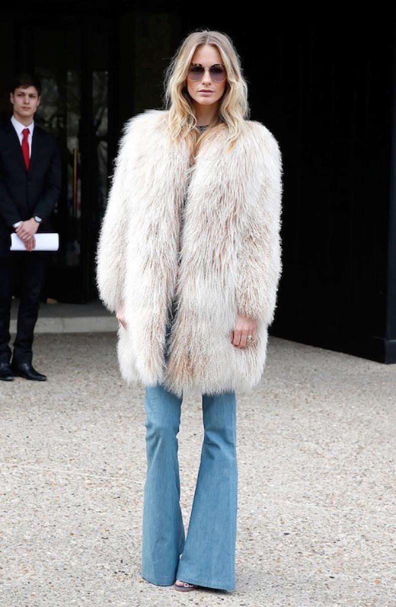 Le-Fashion-Blog-Fall-Street-Style-Poppy-Delevingne-Round-Sunglasses-Shaggy-Mongolian-Fur-Coat-Denim-Flares-Via-Pop-Sugar