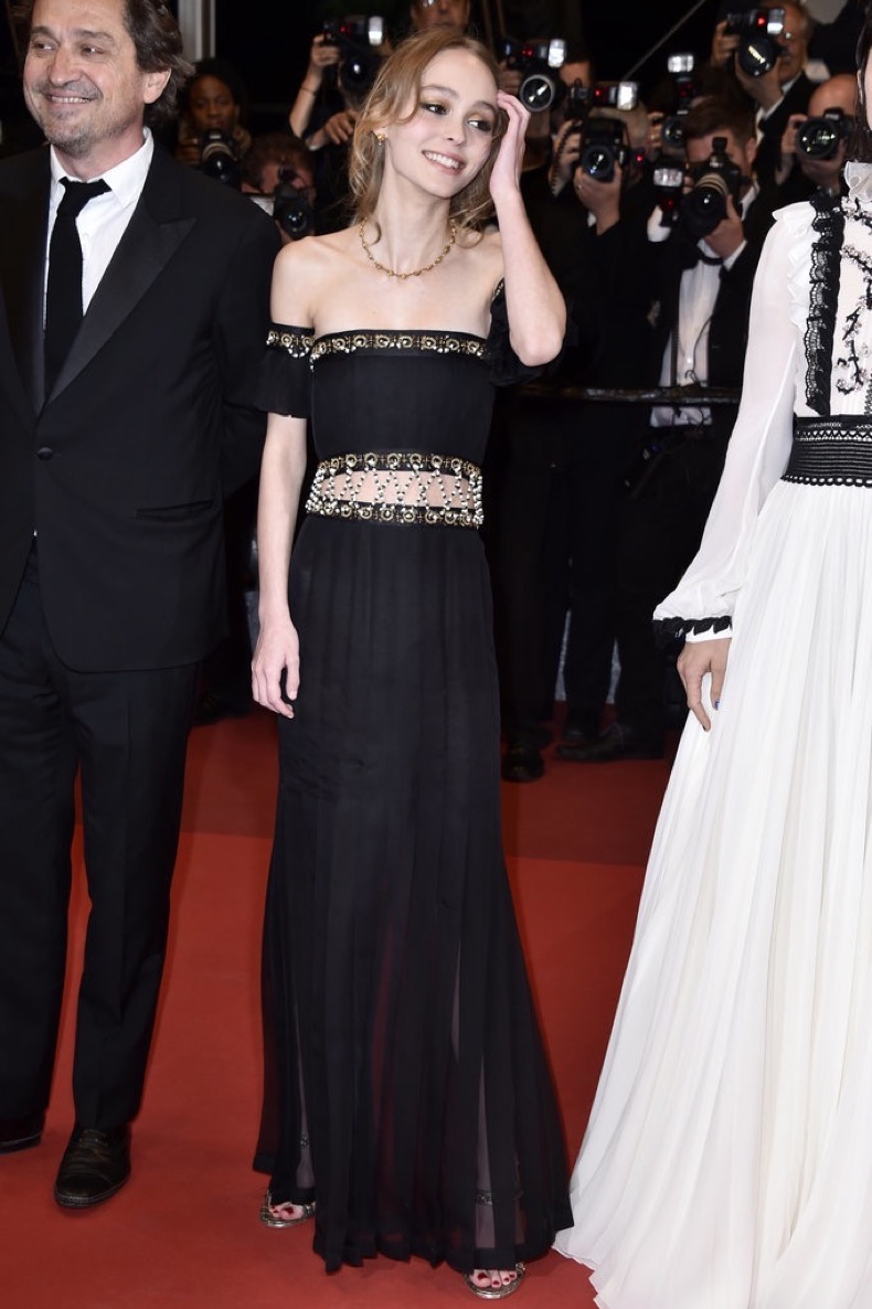 Lily-Rose-Depp-channeled-her-inner-Jasmine-from-Aladdin-red