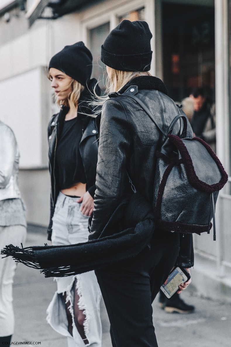 NYFW-New_York_Fashion_Week-Fall_Winter-17-Street_Style-Backpack-Black_Beanies-