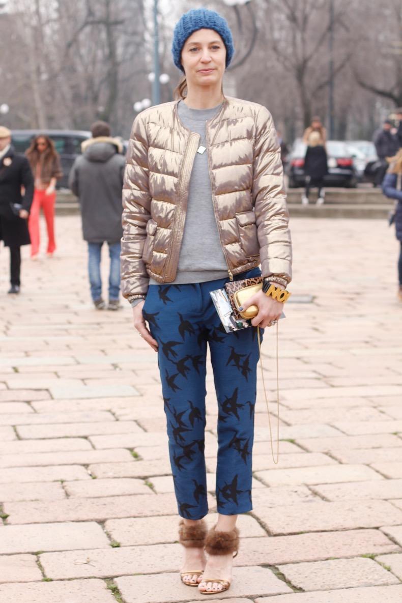 attends the Milan Fashion Week Womenswear Fall/Winter 2013/14 on February 23, 2013 in Milan, Italy.