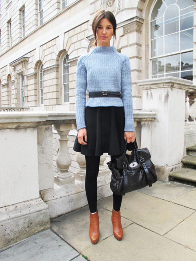belted-sweater-leggings-booties-blue-pastel-blue-winter-work-outfit-black-mini-skirt-tan-booties-via-idreamsittouches.tumblr