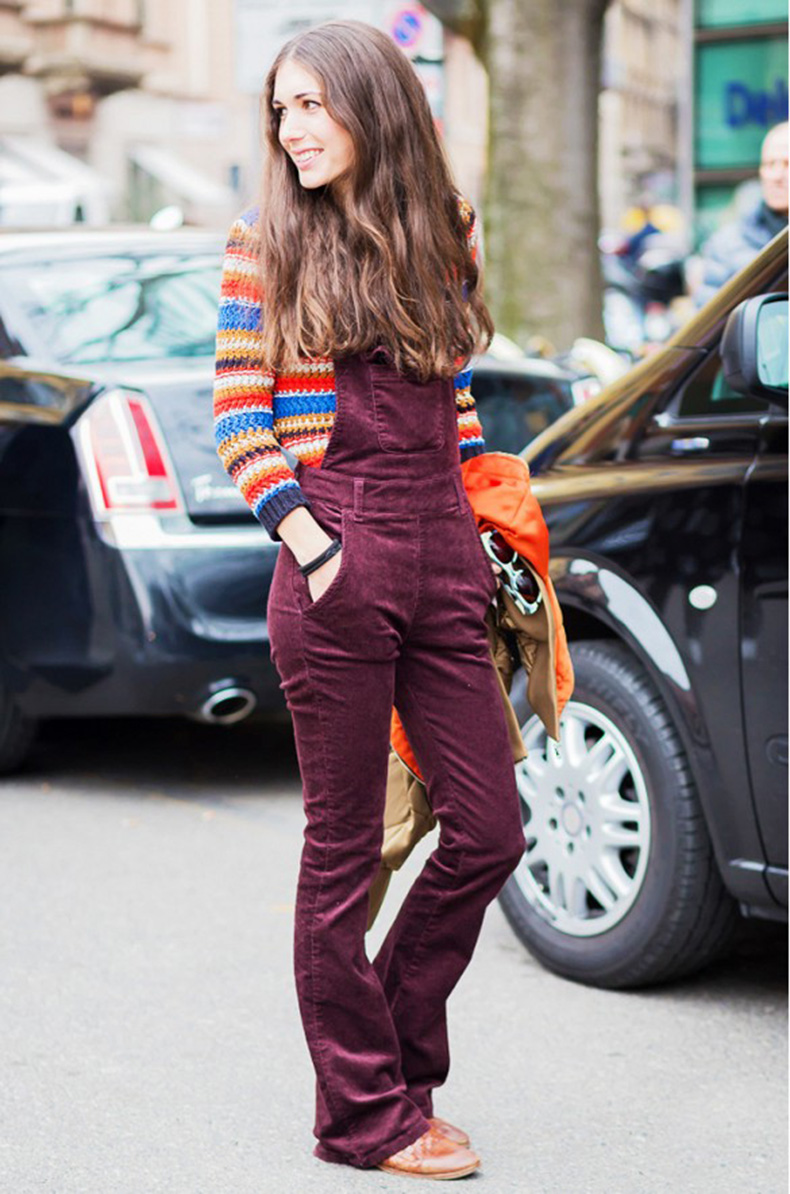 burgundy-overalls-rainbow-stripes-striped-sweater-fall-colors-fall-colorblocking-style-du-monde-corduroy