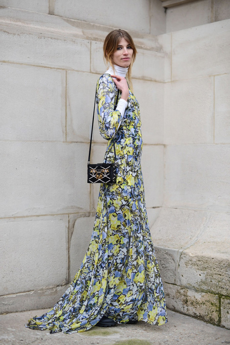 fall-winter-outfit-night-to-day-dressing-evening-gown-for-day-floral-maxi-dress-white-turtlneck-styyle-hack-layering-spring-to-fall-via-getty-to-night--640x958