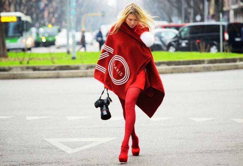 kenzo-blanket-scarf-milan-fashion-week-street-style-2013