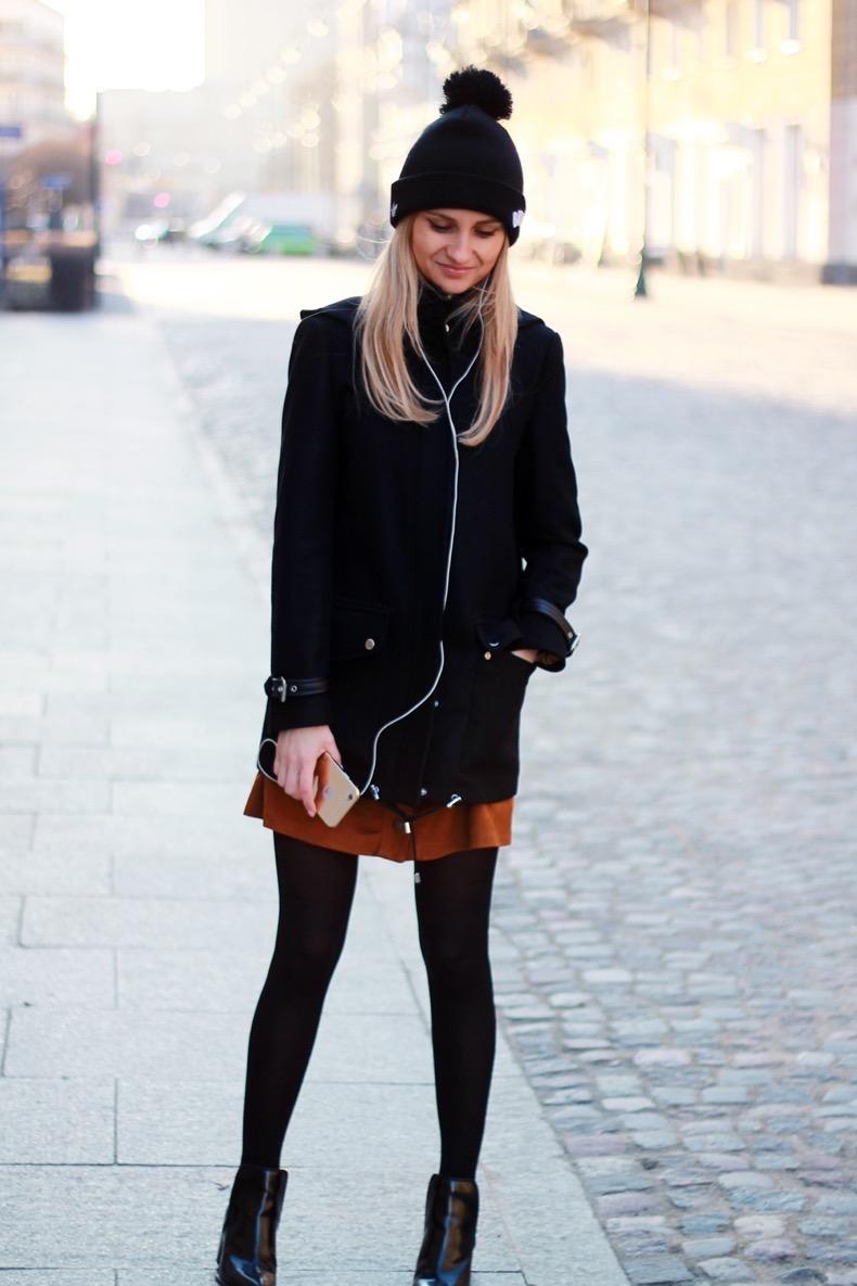 street-style-fashion-blog-mango-jacket-adidas-beanie-zara-dress-blonde-tumblr-style-girl-ootd-inspo